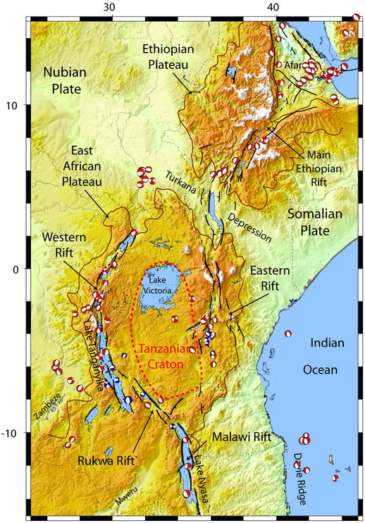east african rift A sudden tear in the east african rift valley is part of a process that will see the horn of africa split from the rest of the continent.